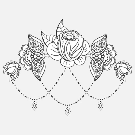 Rose tattoo pattern Illustration