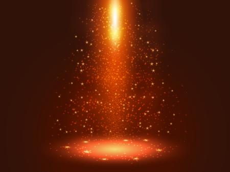Red spray of light Illustration