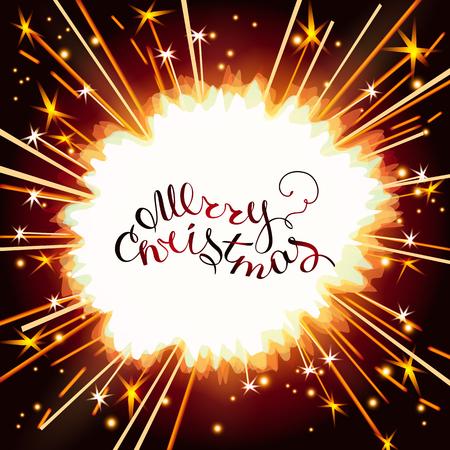 shiny sparkler light Illustration