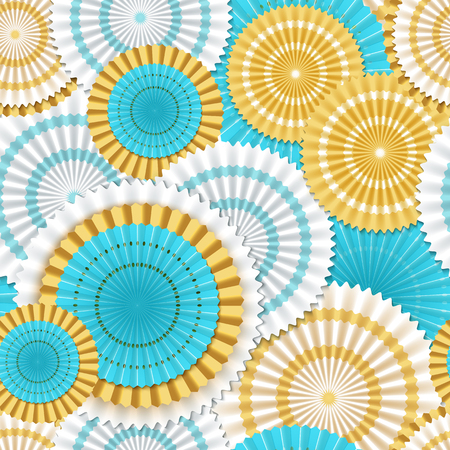 Paper flowers seamless