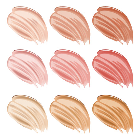 liquid foundation strokes Illustration