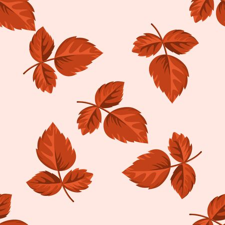 Pattern of autumn leaves Illustration