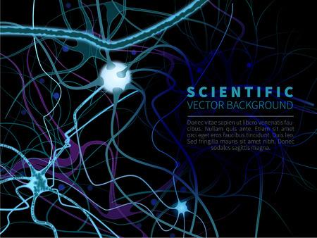 3D-neuron systeemmodel vectorillustratie. Stock Illustratie
