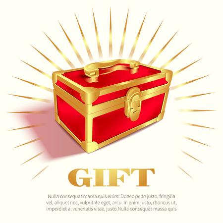Rote Geschenkbox Vektor-Illustration Standard-Bild - 89101180