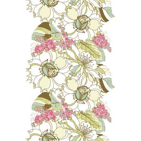 floral seamless pattern Ilustracja