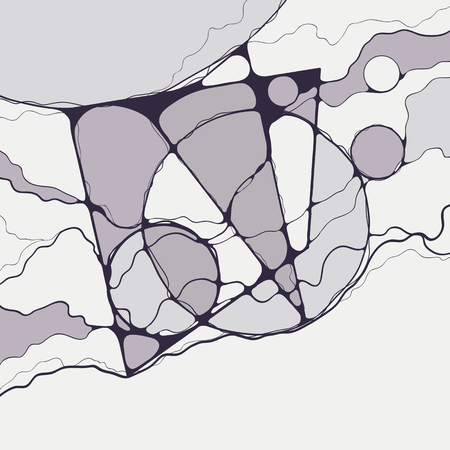 Abstract geometric neuro-graphic drawing.Digital modern canvas artwork