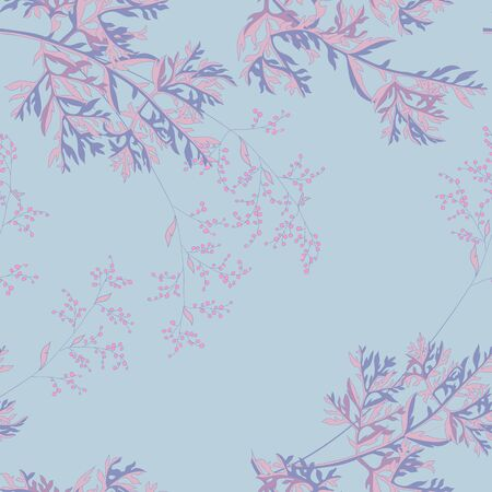 background with field wormwood plant and flowers sagebrush Иллюстрация