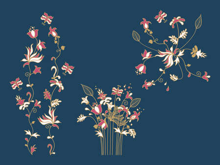 New post stories, vector set cards of lettering with flowers and butterfly in Scandinavian style.