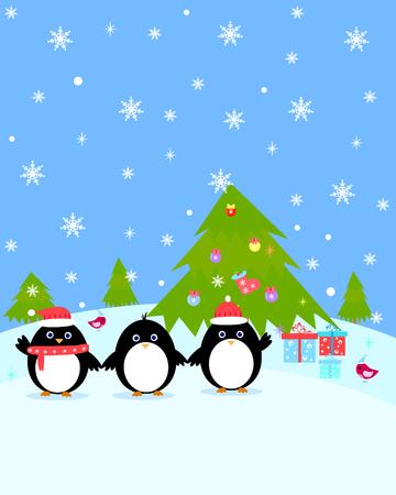A Penguin winter postcard.