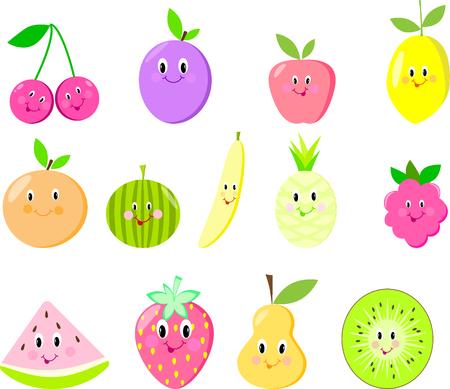 Cute fruit set isolated 版權商用圖片 - 82235185