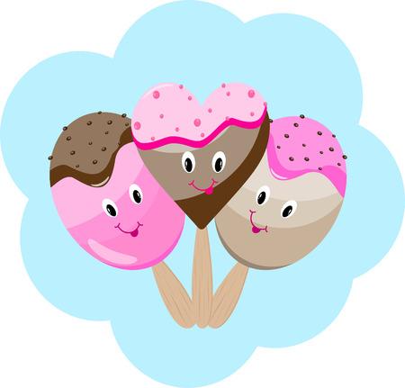 Ice cream cartoon postcard
