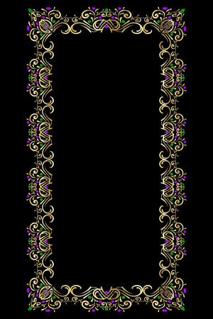 gold precious stone frame
