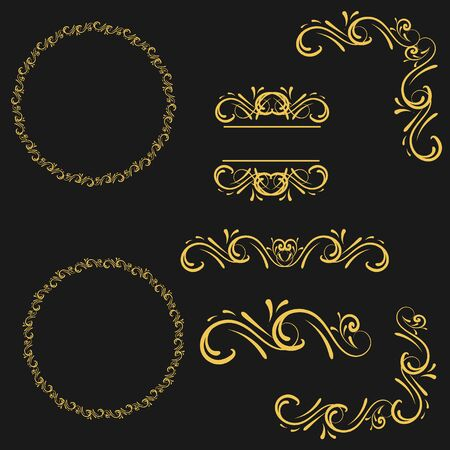 dingbats: Golden Flourishes and Swirls collection