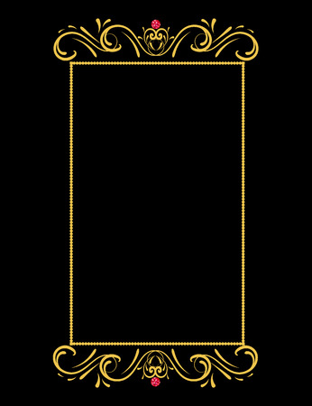 jeweller: Gold frame element Illustration