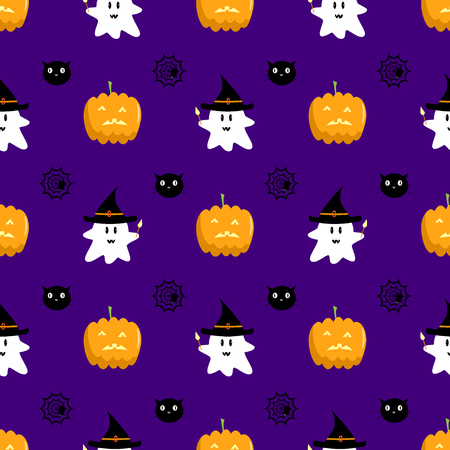 Halloween seamless vector pattern