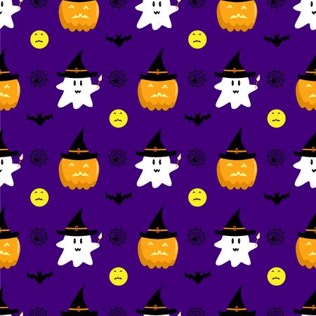 Halloween ghost pumpkin pattern