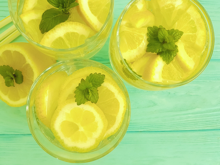 water with mint