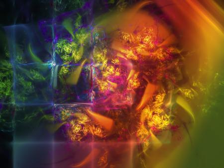 abstract digital fractal Фото со стока