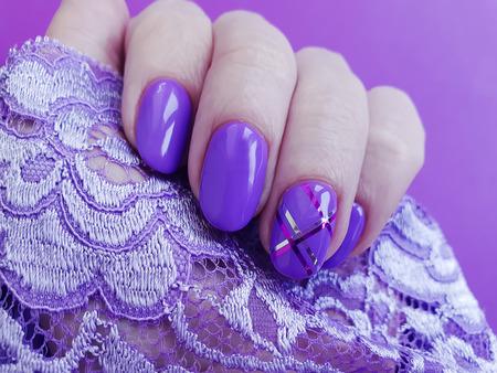 female hand manicure 免版税图像