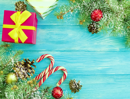 candy, christmas tree branches