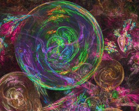 digital abstract fractal Banco de Imagens