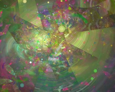 abstract digital fractal Banco de Imagens