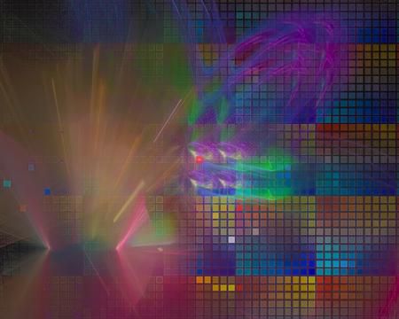 abstract digital fractalabstract digital fractal 写真素材