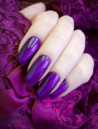 female hands manicure lace 免版税图像