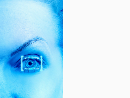 eye laser correction concept Stock Photo
