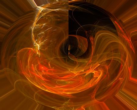 abstract digital fractal fantasy 写真素材