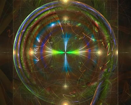 abstract digital fractal, fantasy design imagination Stockfoto