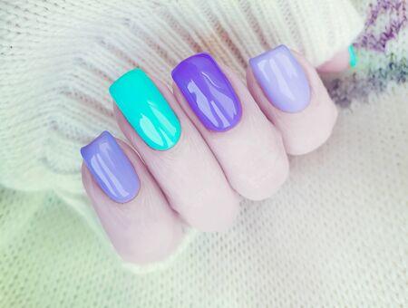 female hand beautiful manicure