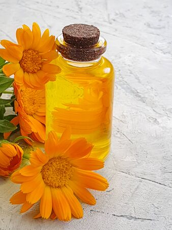 cosmetic oil calendula flower