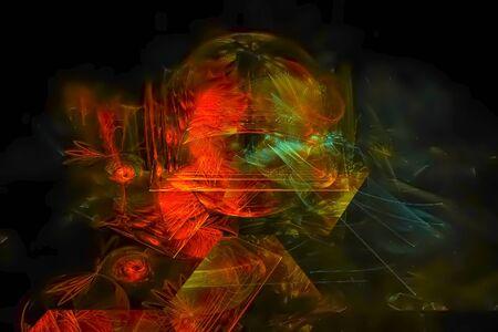 abstract digital fractal Stockfoto