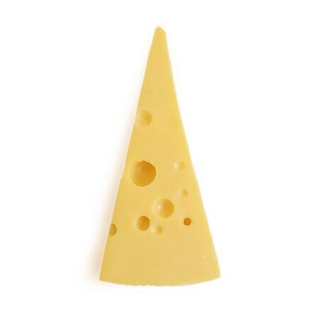 Cheese block on a white background set portion Фото со стока