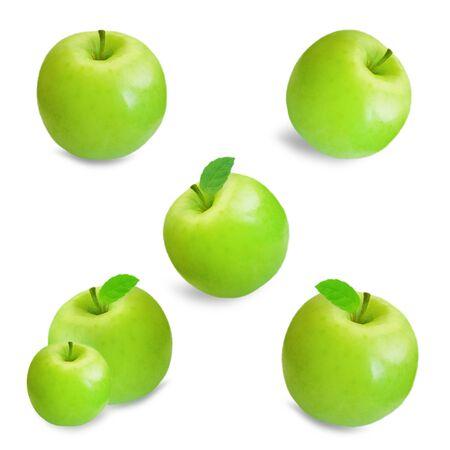 whole green apple isolated 版權商用圖片 - 130162722
