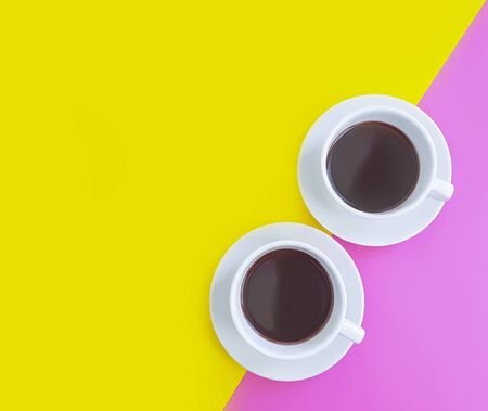 cup of coffee on a colored background