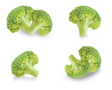fresh broccoli isolated on a white background Stockfoto