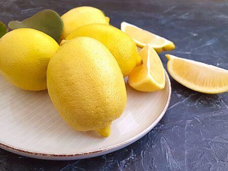 fresh lemon on a plate