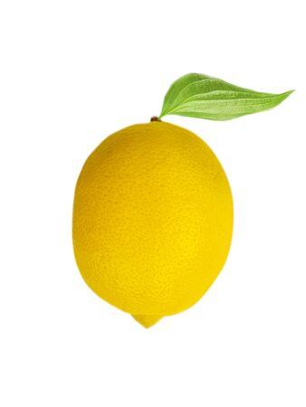 whole lemon on a white background 写真素材