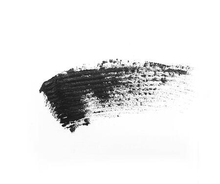 mascara smear isolated on a white background