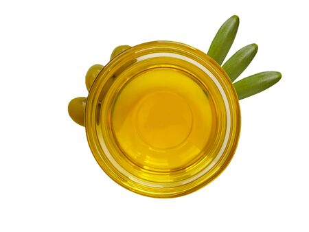 olive oil in a glass jar isolated