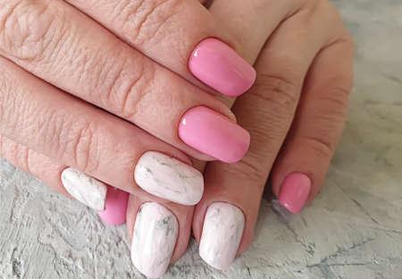 female hand beautiful stylish manicure