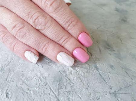 female hand beautiful stylish manicure Zdjęcie Seryjne - 151750721