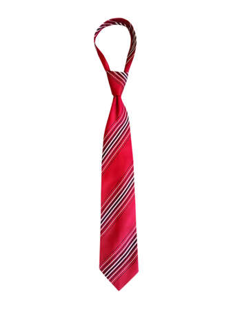 men's tie isolated on white background Foto de archivo
