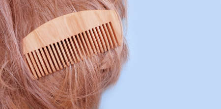 wooden comb beautiful hair background