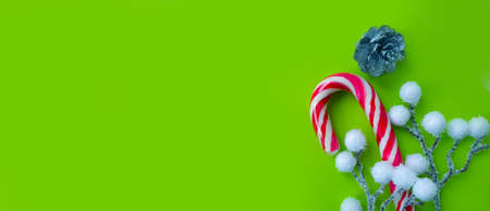 christmas, candy cane on a colored background