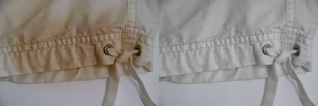 white clothes stain before and after housewife