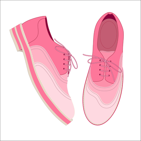 pink shoes: A pair of pink shoes