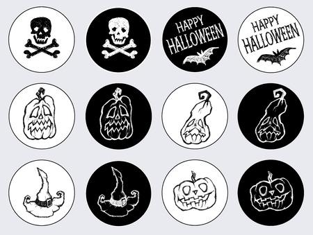 Aufkleber Für Den Feiertag Halloween. Happy Halloween / Verkauf ...